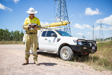 Panasonic fz g1 toughpad being used by ergon energy worker image 2