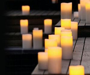 Enjoy flameless wax candles