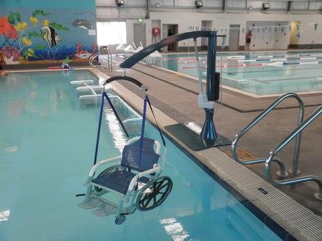 Pool hoists lift spirits