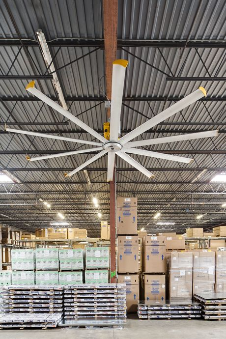 warehouse stays comfortable for safety s sake rh safetysolutions net au warehouse ceiling fan price lighting warehouse ceiling fans