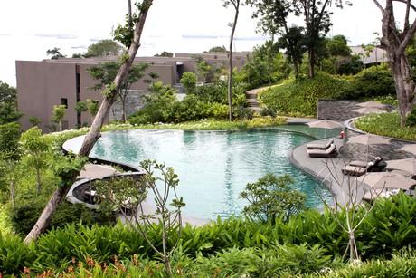 Capella hotel granite by pools 300