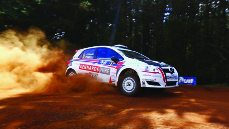 Kennards hire rally guide image car