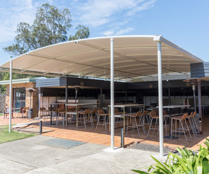 Triax pvc shade structure