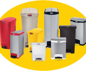Rubbermaid slim jim step on  containers