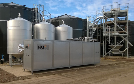 The hrs 3 tank batch sludge pasteuriser system recovers 40  of the heat used  helping muntons save more than a 9 4m to date cropped