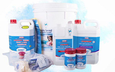 Waterco Poppits pool and spa sanitisation products