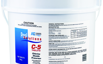 IQ and Pierce Pool Supplies C-5 bacteria removal