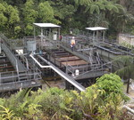 Hydrofux epco roadtrain sewage treatment plants operating in a remote village in png