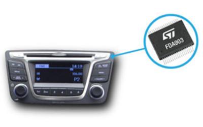 STMicroelectronics FDA803D and FDA903D digital-input automotive audio amplifiers