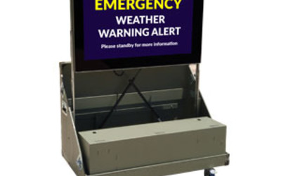 MetroSpec Portable Outdoor Emergency Digital Signage