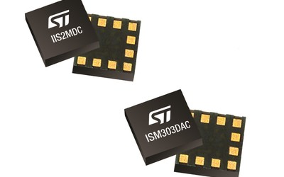 STMicroelectronics IIS2MDC magnetometer and ISM303DAC eCompass