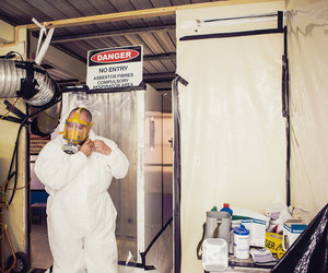 Asbestos removal treated
