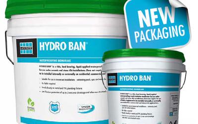 LATICRETE HYDRO BAN waterproofing — new sizing