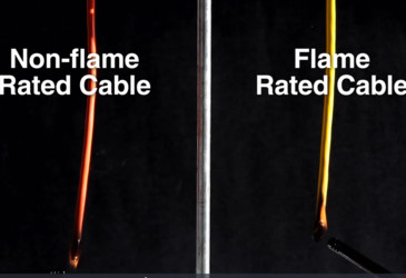Flame-rated vs non-flame-rated cable