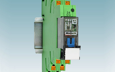 Phoenix Contact relay modules with lockable manual operation