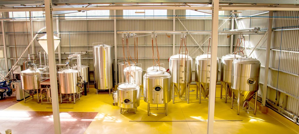 Antimicrobial floor for brewery
