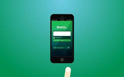 Sherm mobile app video