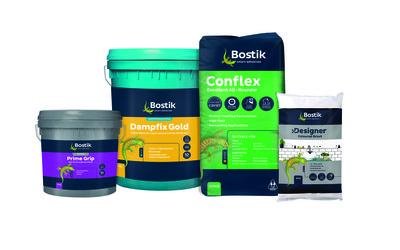 Bostik tiling adhesive range