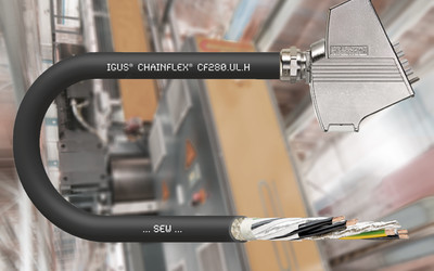 igus CF280.UL.H hybrid drive cable for energy chains
