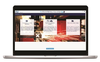 STMicroelectronics ST-MC-SUITE online tool for motor control