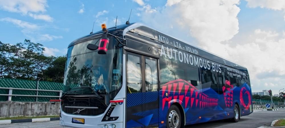Autonomous electric bus unveiled in Singapore