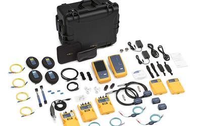 Fluke DSX-5000QOi copper and fibre optics test kit
