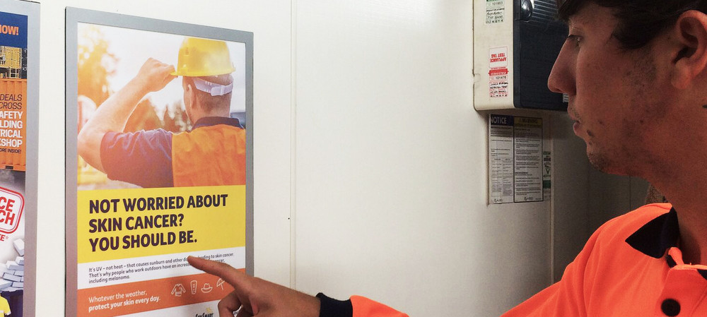 Safety messages targeted at tradies