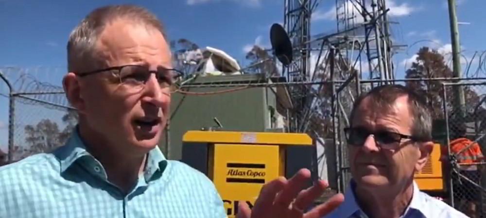 Minister visits bushfire-affected radio sites