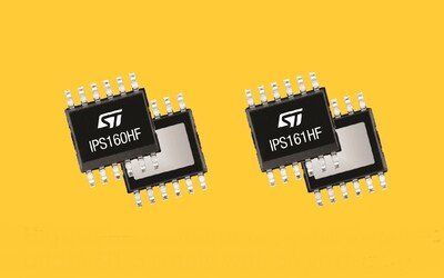 STMicroelectronics IPS160HF and IPS161HF intelligent power switches