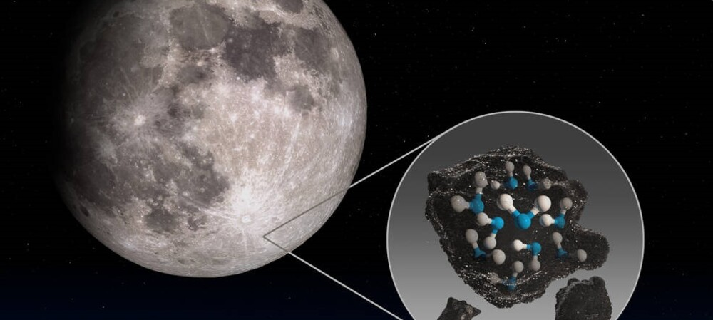 Water discovered on the sunlit surface of the Moon