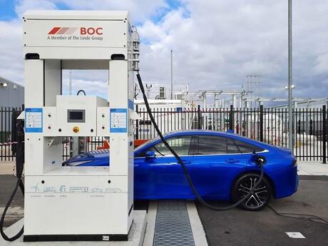 BOC–Toyota partnership delivers hydrogen refuelling station