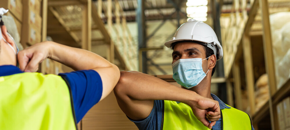 Bluetooth badges enable safe distancing for workers