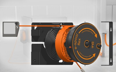 igus e-spool flex 2.0 cable reel with worm guide