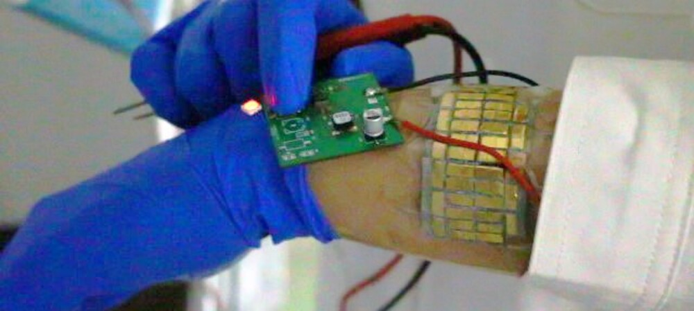 Thermoelectric generators to power wearable devices