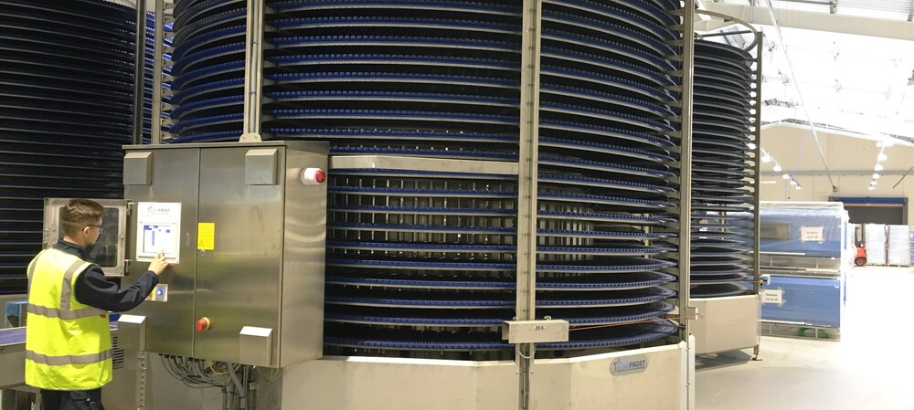 Spiral cooling system boosts scone production by 70%